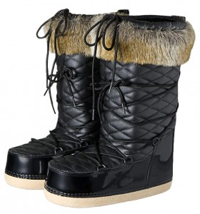 Buty damskie po nartach BARTS Fur Boots black quilted M