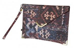 KIND CLUTCH BAG AUBERGINE